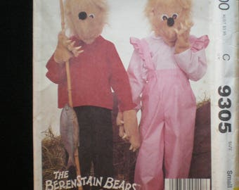 Vintage 1984 Berenstain Bears Brother u0026 Sister Bear Costume Pattern McCallu0027s 9305 Size Small boys/girls 6-8 UNCUT & Sister bear costume | Etsy