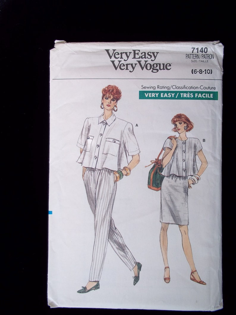 VOGUE PATTERNS Sewing Pattern V9031 Skirt 3 Styles UNCUT