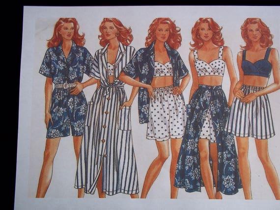 Jahrgang 90er Bralette Hawaii-Hemd Culotte Hosen | Etsy