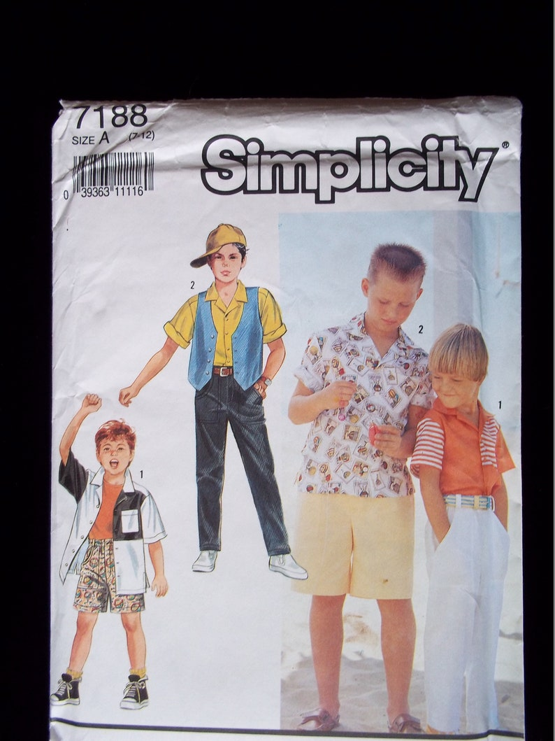 51a0795650 Vintage Simplicity Boys  Fly Front Pants or Shorts