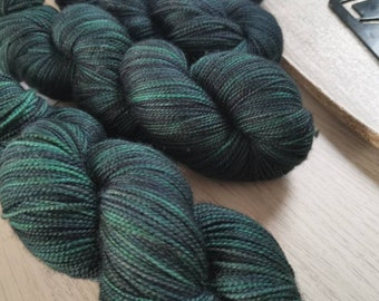 Rockin\u2019 Around the Christmas Tree Sock Yarn and Mini-Skein Kit with Christmas Stitch Marker Hand-Dyed Wool Set Mint Green Speckled Yarn
