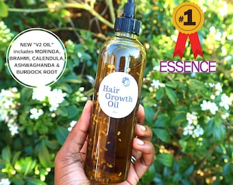 Hair Growth Oil, Ayurvedic Herbs,Alopecia, Edges, Beard, Ayurveda, Breakage, Hair Loss, Thicker Hair, Hot Oil Treatment, Dry Itchy Scalp