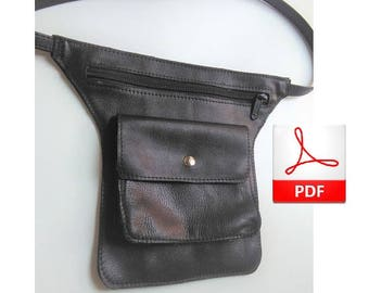 Fanny Pack Pattern - Sewing Pattern to Make This Cute Belt Bag Leather, Leather PDF
