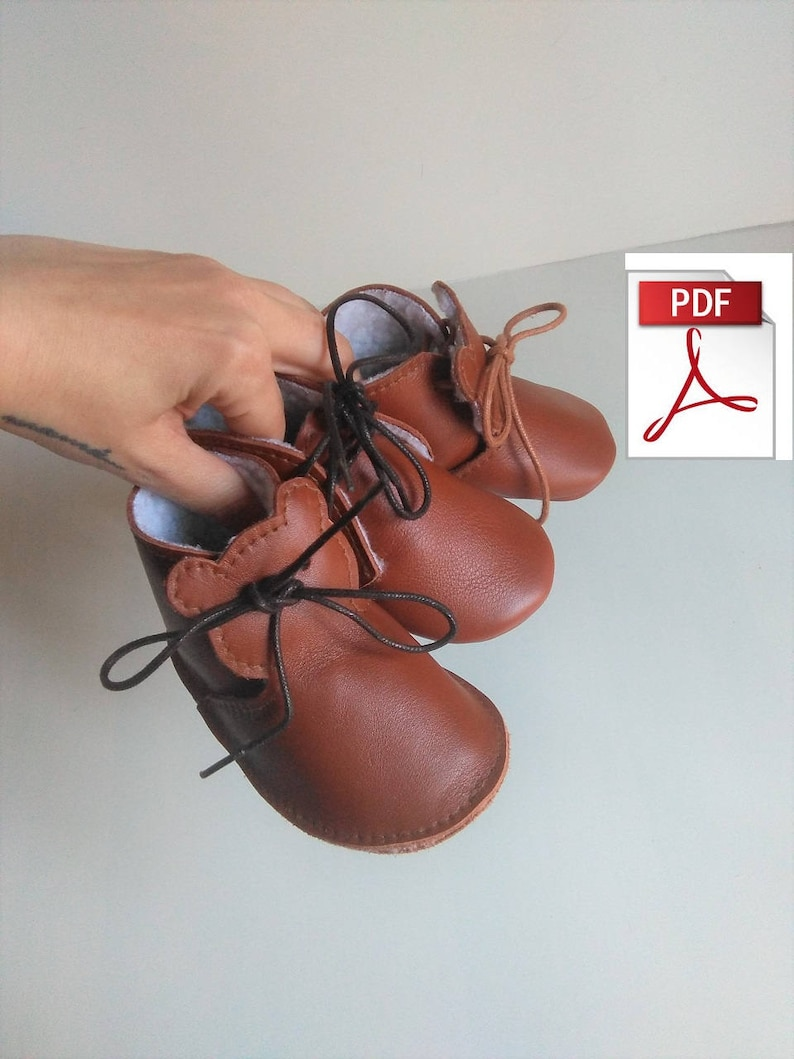9b0960abf9a Patrón Zapatos de Cuero Bebé Cómo hacer Botitas de Cuero para