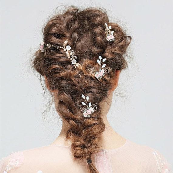 Bride Hair Pins/ Gold Bridesmaid Hair Pins/ Bride Accessories/ Wedding  Accessories/ Flower Girl/ Hair Accessories/ Hair Pins