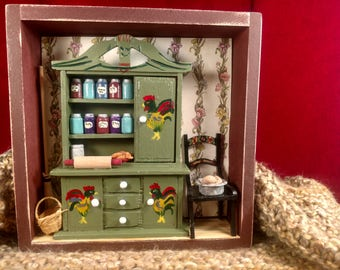 Country kitchen shadowbox