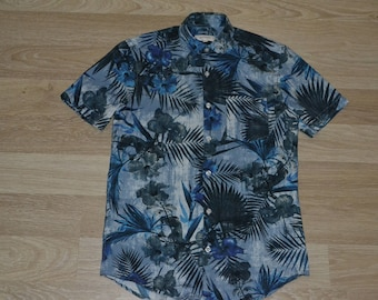 eb1b2ec1 Vintage Hawaiian Shirt | Men's XS | Hot Rod Tiki Shirt | Aloha Shirt |  Party Shirt | Luau | Tropical Travel Tourist Vintage tiki | BBQ