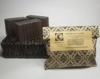 Bentonite Clay & Lavender Natural Handmade Soap 5 oz.