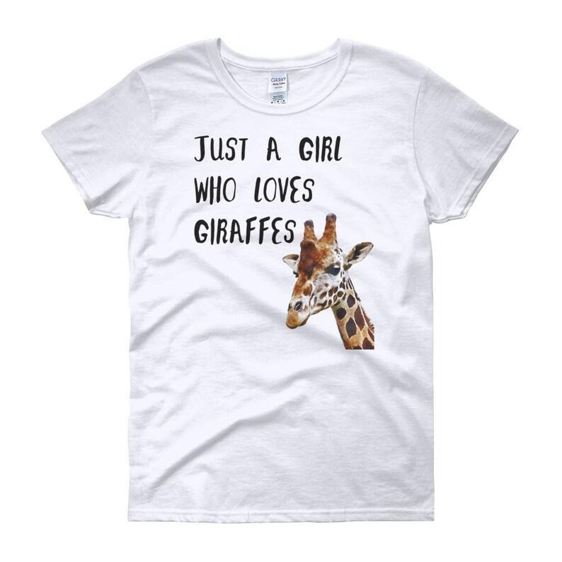 e97829bb87 Cute Giraffe Shirt Funny Giraffe T-Shirt For Girls Animal | Etsy