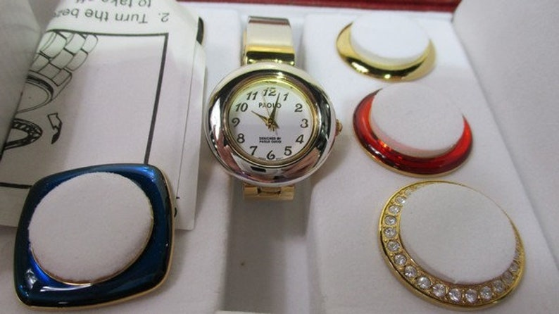 47800cd4a59 Paolo Gucci multi color bezel ladies watch