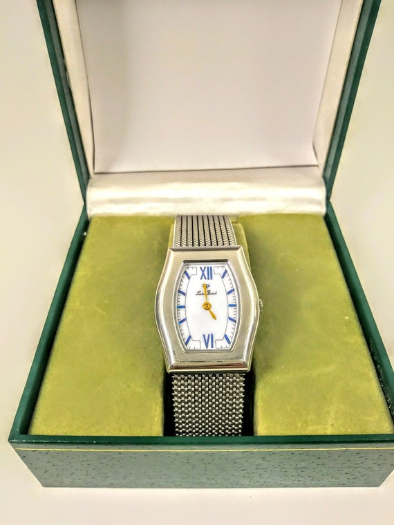 Lucian Piccard Swiss made stainless steel elastic steel band watch