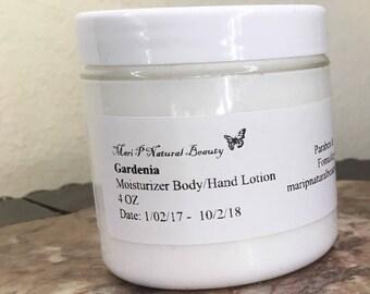 Handmade Gardenia Moisturizer Body & Hand Lotion 4 Oz Paraben - Fomaldehyde Free