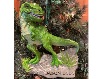 T Rex Christmas Lawn Decoration  from i.etsystatic.com