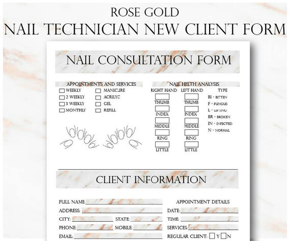 Rose Gold Big Beauty Salon Bundle Etsy