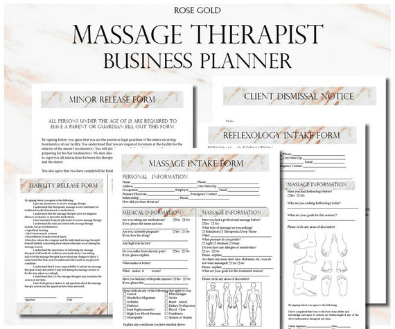 photo relating to Printable Massage Intake Form known as Rose Gold Mage Therapist Organization Planner, Mage Company, Mage Consent Sorts, Mage Affected person Usage Style, Salon Handle