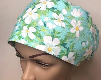 Scrub hat cap floral, nursing, medical