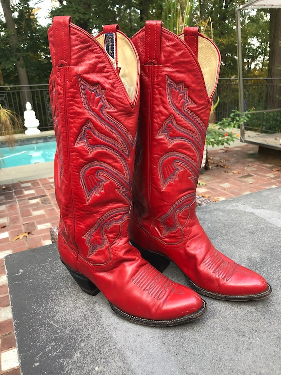 Red Panhandle Slim Crafted in Mexico Western Boots