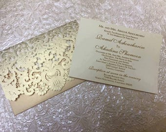 embossed invitation etsy