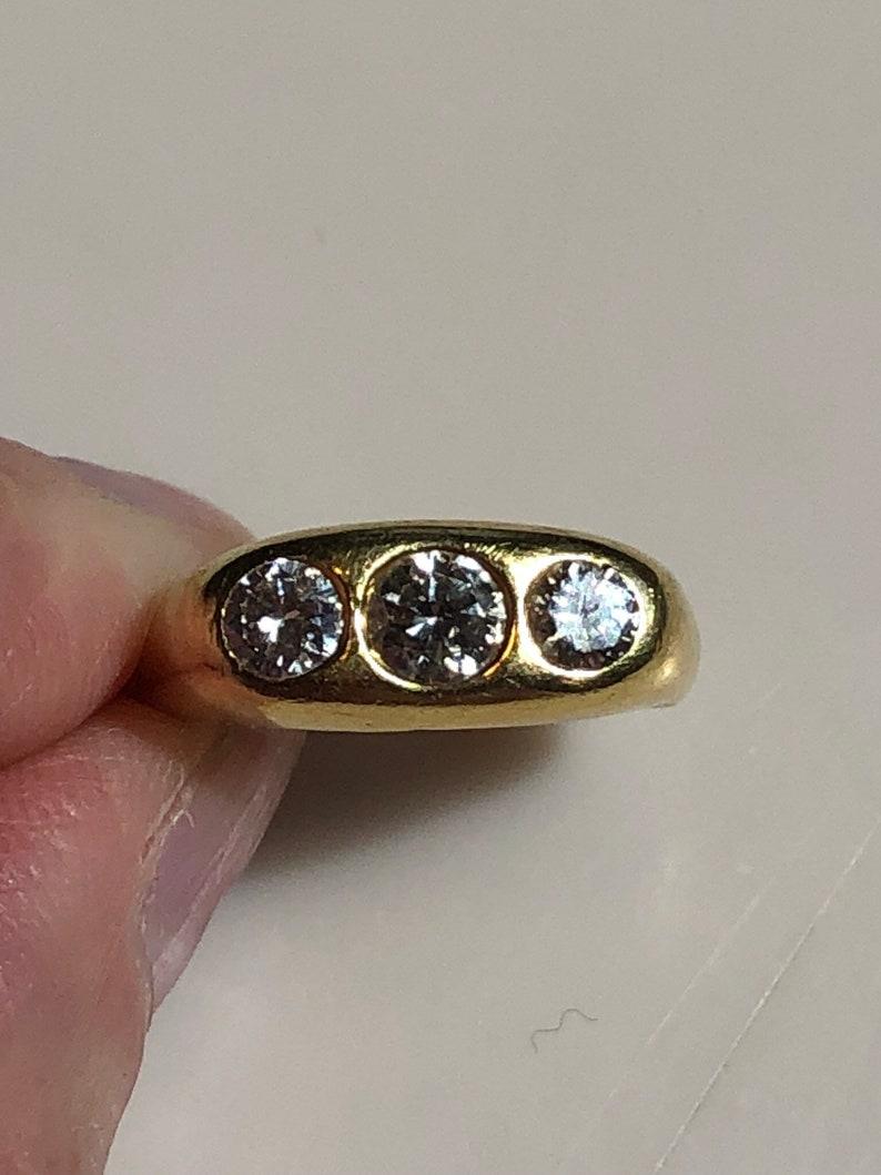 0821fbd15dd6a Three stone diamond gypsy ring