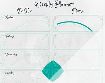Contemporary positive weekly planner
