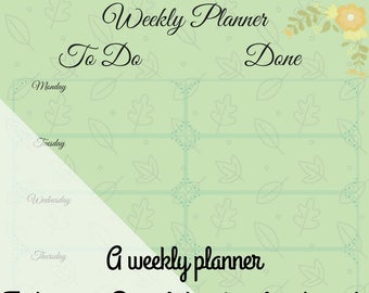 Autumn Positive Weekly Planner