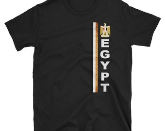 3566b175 Egypt Jersey T-shirt, Egyptian Soccer Tee, Egypt Football Team, Egypt Flag,  Emblem, Eagle, Men's, Unisex, S,M,L,XL,2XL,3XL, Distressed