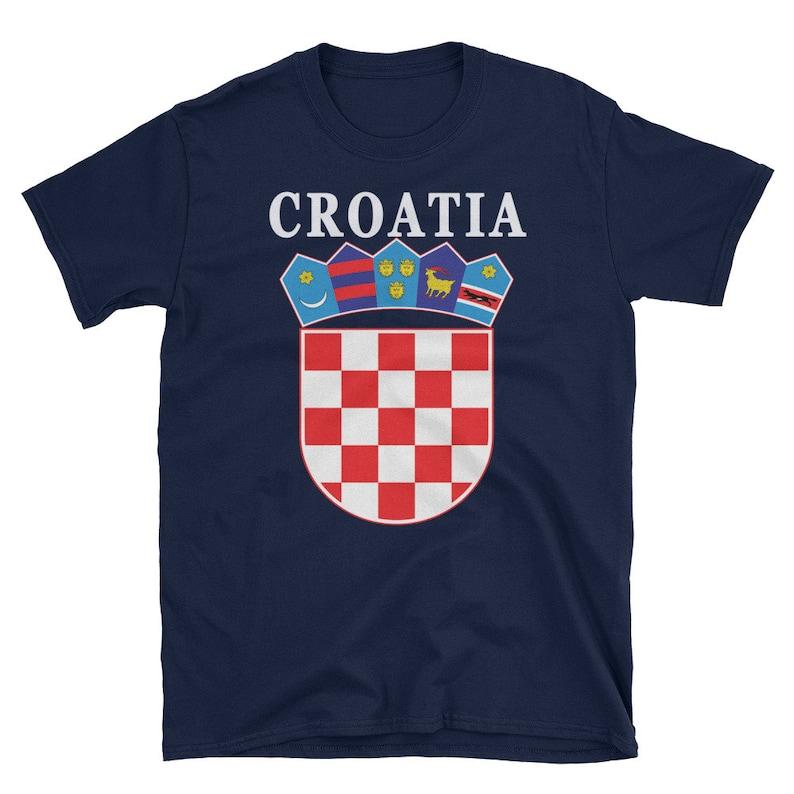 8a3d0626031 Croatia Shirt Croatian National Coat of Arms Tee Hrvatska   Etsy