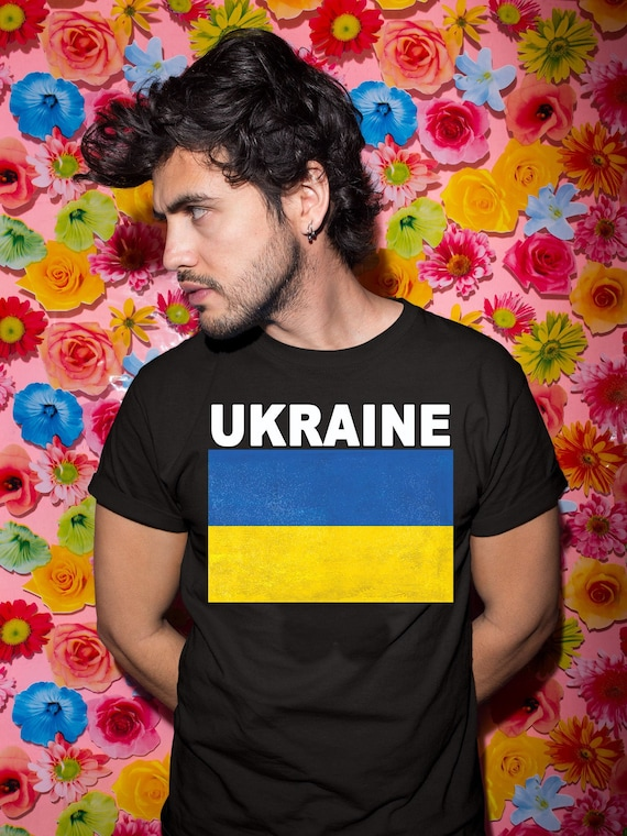 Ukraine Flag Country Chest Tank Top Shirt