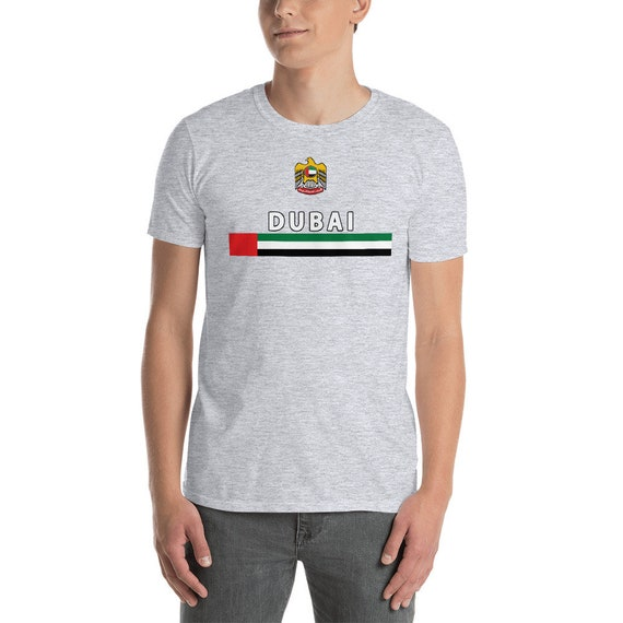 a1cc27a6 Dubai Jersey T-shirt UAE Flag Emblem Dubai Soccer Football | Etsy