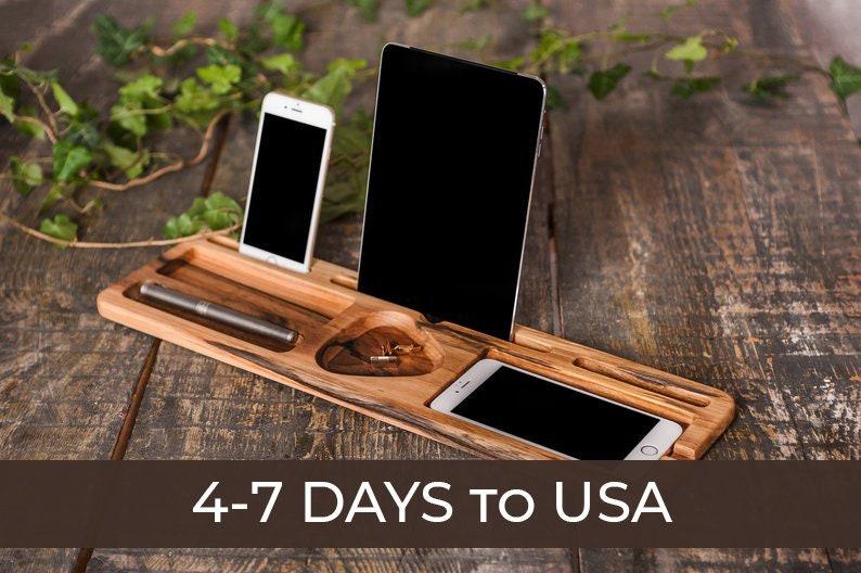 Office Men docking station,Wooden desk organizer men,Organizer wooden phone  stand,Wooden docking station,Phone holder wooden stand