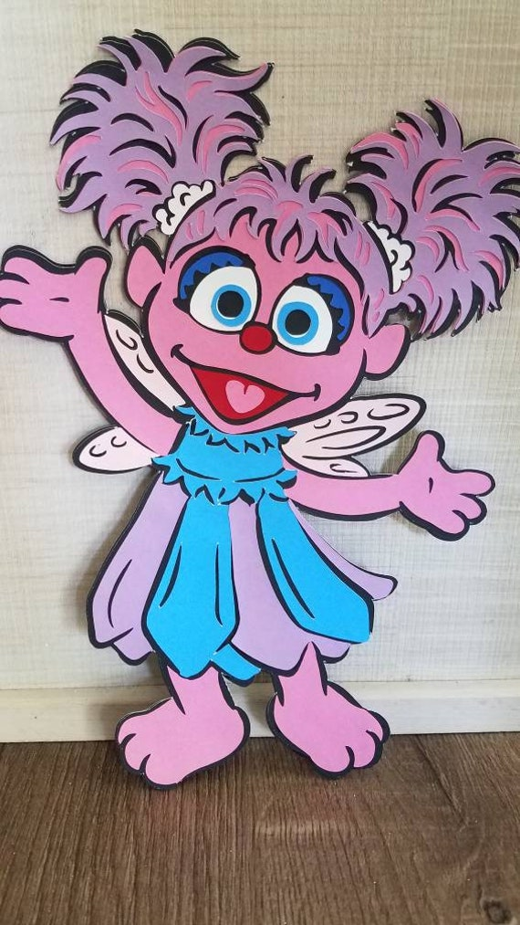 12 15 Inches Abby Cadabby Die Cut Abby Cadabby Centerpiece Sesame Backdrop Sesame Photoprops