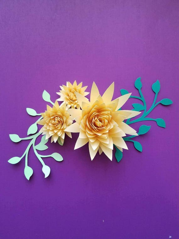 Set of 10 small paper flowers rolled paper flowers origami etsy image 0 mightylinksfo