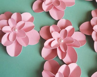 Set of 12 Small Paper Flowers, Bridal Shower Flowers, Baby Shower Decor