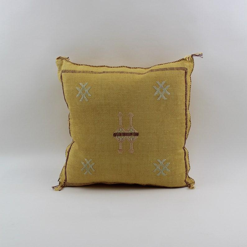 handwoven boho moroccan pillows sabra berber cushions tribal pillow case L45 20x20 Moroccan cactus silk pillow cover