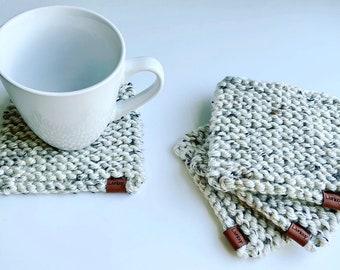 Chunky Knit Coasters