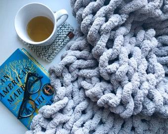Chunky Knit Blanket, Chenille Blanket