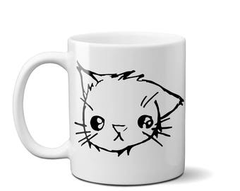 Cat Mug Simplistic Cat Mug Funny Cat Mug Cat Lover Gift for Cat Lovers Kitten Mug Cat Lady Mug Cute Cat Mug