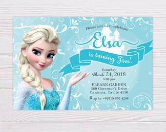 Frozen invite Etsy