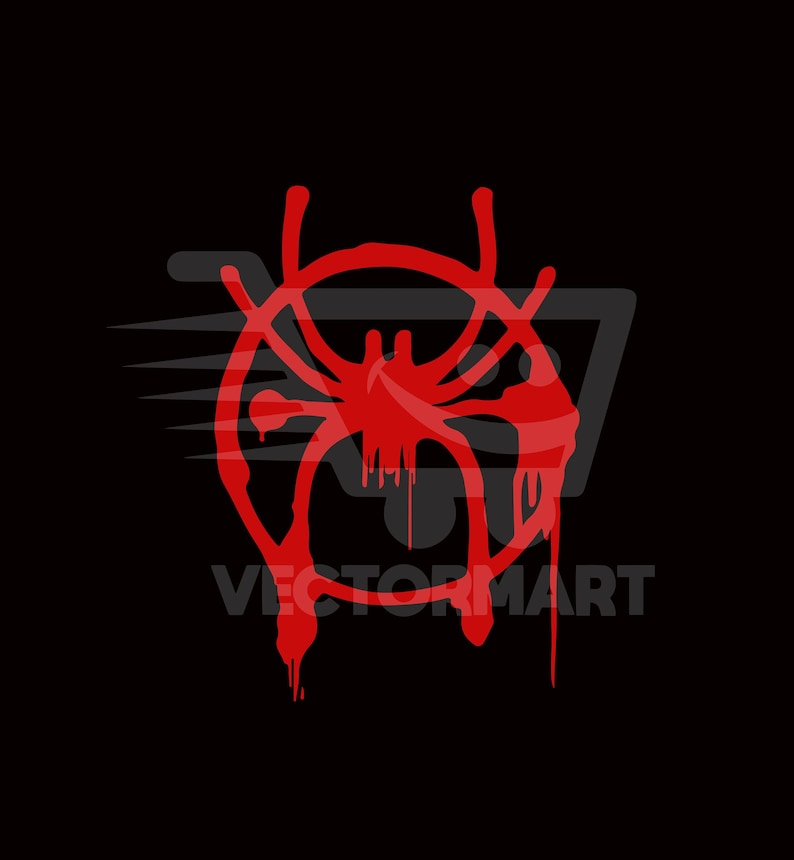 Miles Morales Spider Spray Paint Svg Pdf Eps Png Vector Image Perfect For Cricut Silhouette