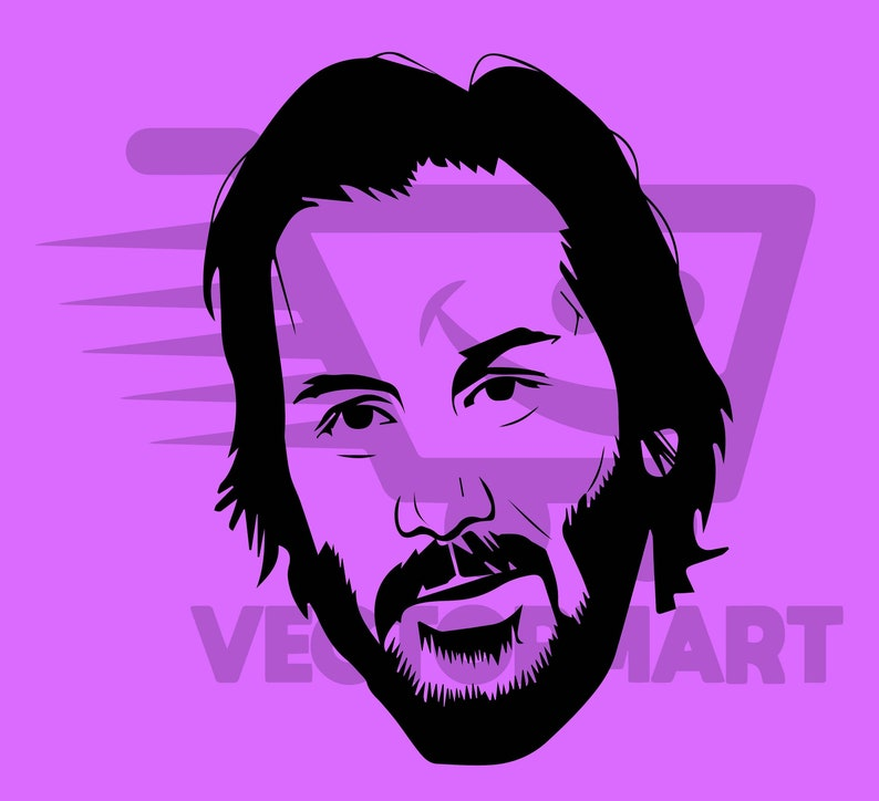 Keanu Reeves Vector Art (SVG, PDF, EPS Png Jpeg Vector Image Perfect for  Cricut & Silhouette)