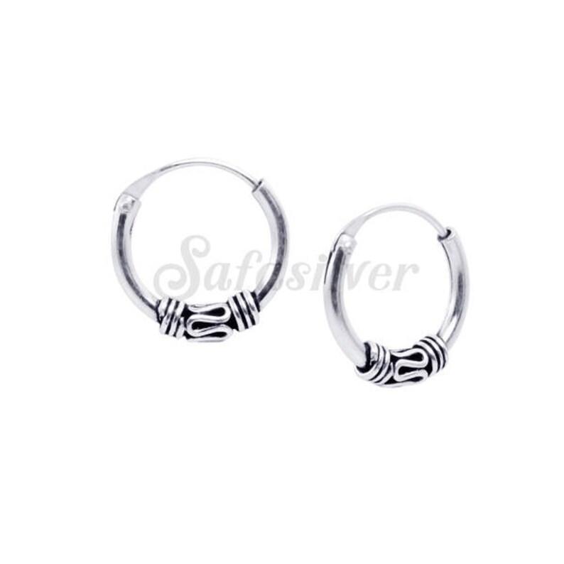 2d3c188b3 12 mm Hand Made HoopsSilver Bali Hoops EarringBali Style | Etsy