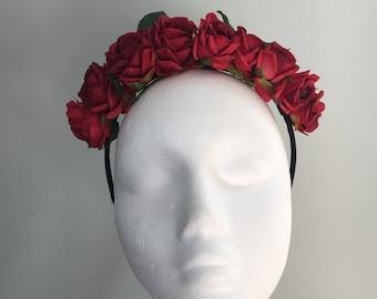 Scarlet Rose hairband