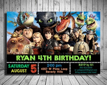 How To Train Your Dragon Invitation, How To Train Your Dragon Birthday,How To Train Your Dragon Party,How To Train Your Dragon Party Invites