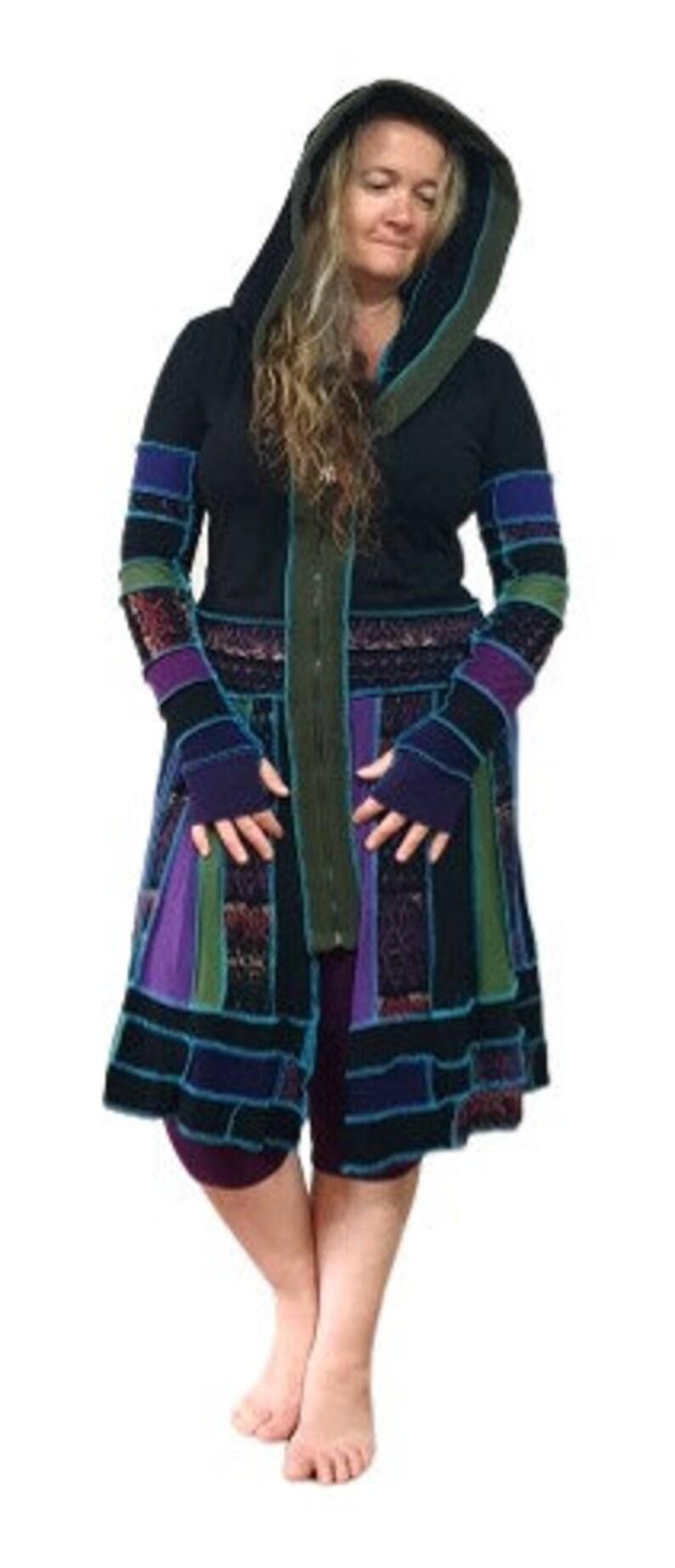 Gypsy Owl *Keisha* Up-cycled Woman/'s Jacket Dress festival fashion