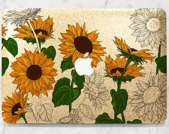 more photos b3bf8 d615e Sunflowers macbook | Etsy