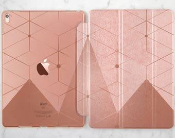 Geometric case iPad case 9 7 2017 iPad case geometric iPad case 12 9 iPad clear case Rose gold ipad case Rose gold ipad air Rose gold iPad
