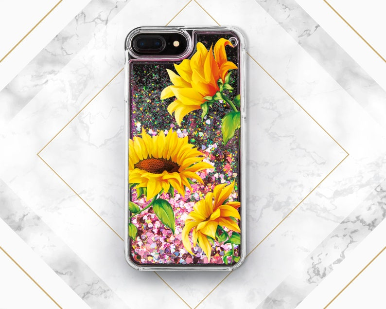 the latest 9919c 4073f Phone case sunflower iPhone X case iPhone case glitter iPhone 8 Plus s9  case iPhone 8 case s6 case Sunflowers case iPhone 7 Plus SGG_020