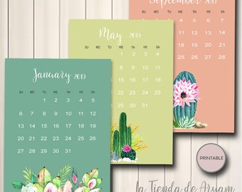 Succulent calendar | Etsy