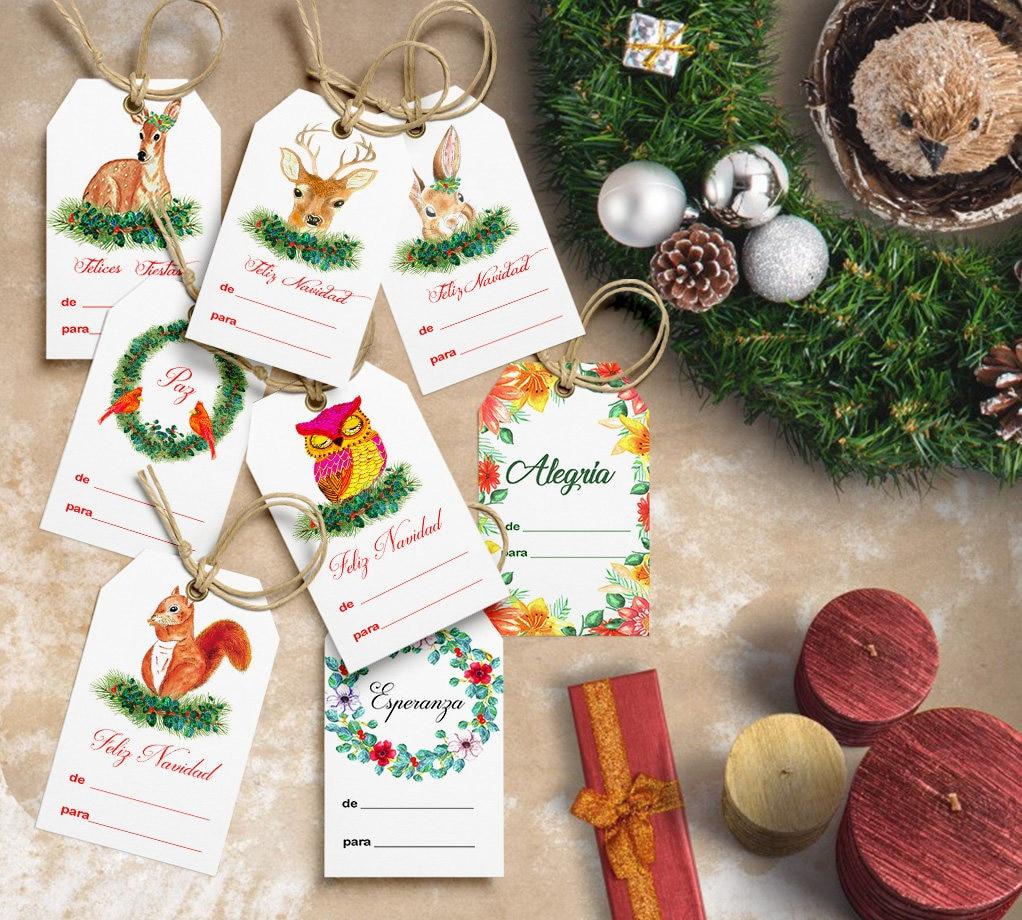 Tarjetas para regalos de navidad imprimibles descarga etsy - Regalos padres navidad ...