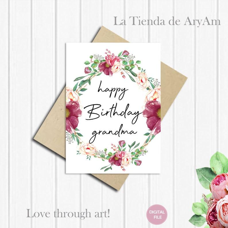 Happy Birthday Grandma Card For 5x7